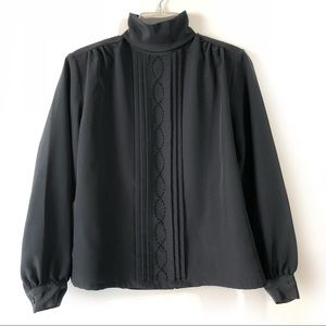 Vintage Options Melrose Black Blouse with Beads